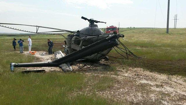 В России разбился вертолет Ми-2