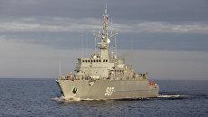 Противоминный корабль ВМФ РФ. архивное фото