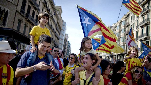 В Стране Басков прошел митинг в поддержку независимости Каталонии