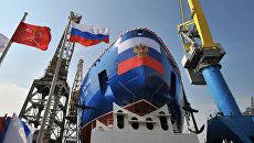 Спуск на воду головного атомного ледокола Арктика в Санкт-Петербурге. Архивное фото