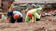 Археологические раскопки в центре Москвы в рамках программы Моя улица