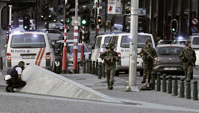 Ситуация на Центральном вокзале Брюсселя после взрыва, 20 июня 2017