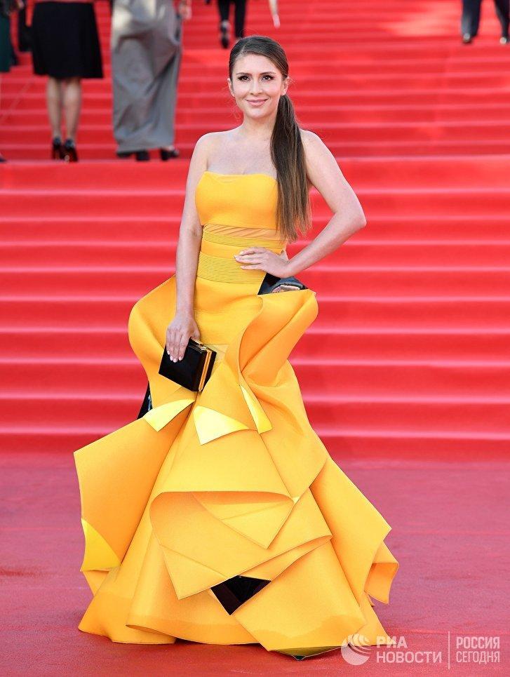 Актриса Валерия Кожевникова на церемонии открытия 39-го Международного Московского кинофестиваля