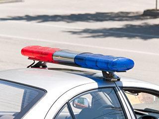 Специальный сигнал на крыше полицейского автомобиля. Архивное фото