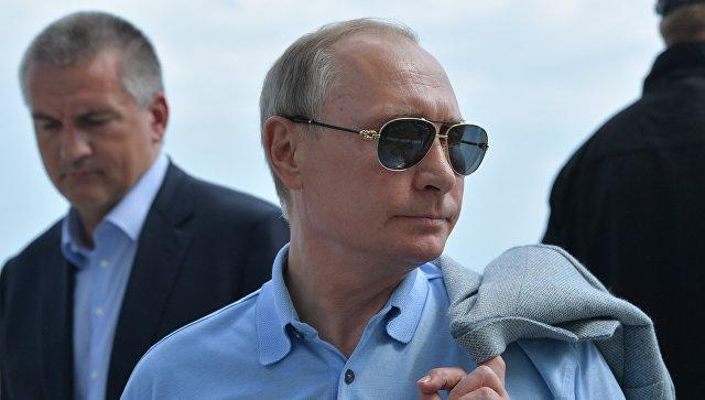 Украина выразила протест всвязи споездкой Владимира Путина вКрым