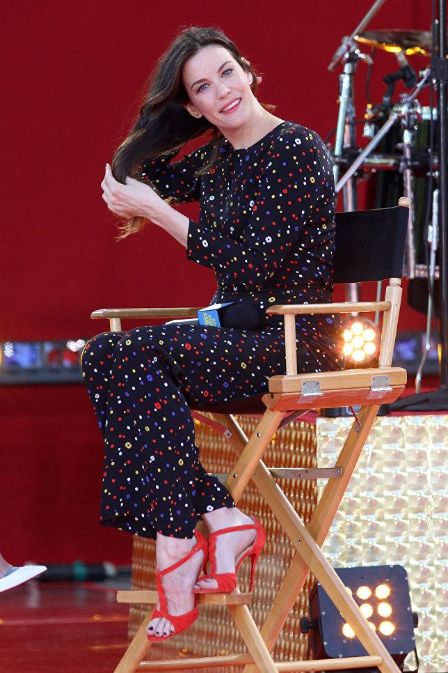 Американская актриса Лив Тайлер. Нью-Йорк, 2014