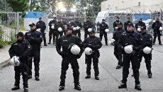 Сотрудники полиции Германии в Гамбурге в преддверии саммита G20. 25 июня 2017