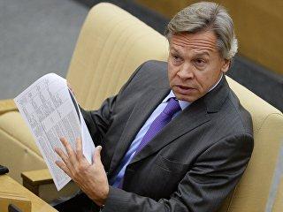 Алексей Пушков на пленарном заседании Государственной Думы РФ. Архивное фото