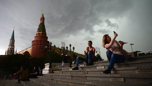В российской столице снова объявлен желтый уровень погодной опасности