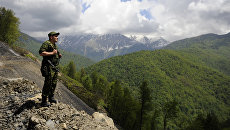 Российский пограничник. Архивное фото