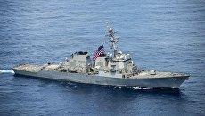 Американский эсминец USS Stethem в Южно-Китайском море. Архивное фото