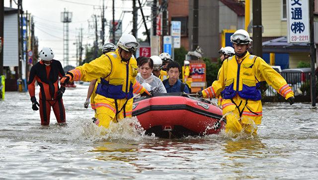 Наводнение в  Японии. Архивное фото