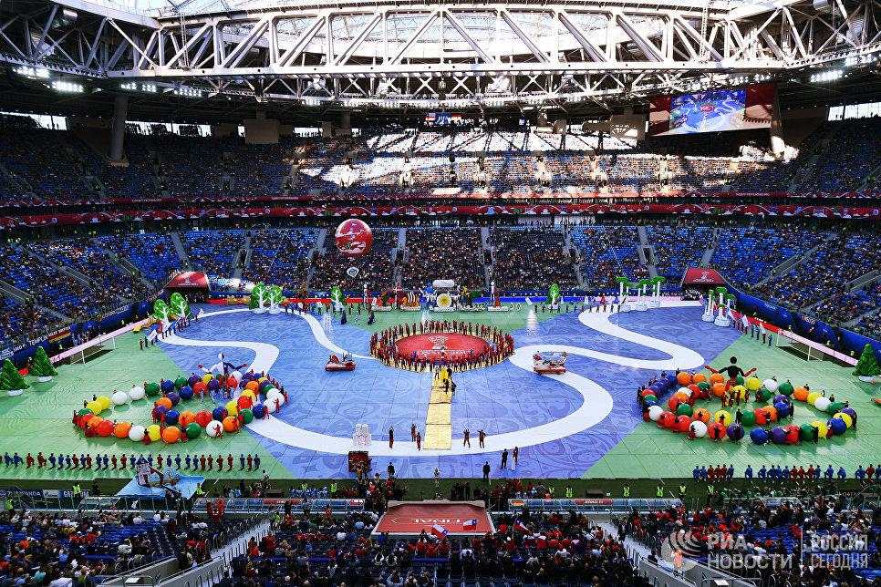 Церемония закрытия Кубка конфедераций-2017 в Санкт-Петербурге