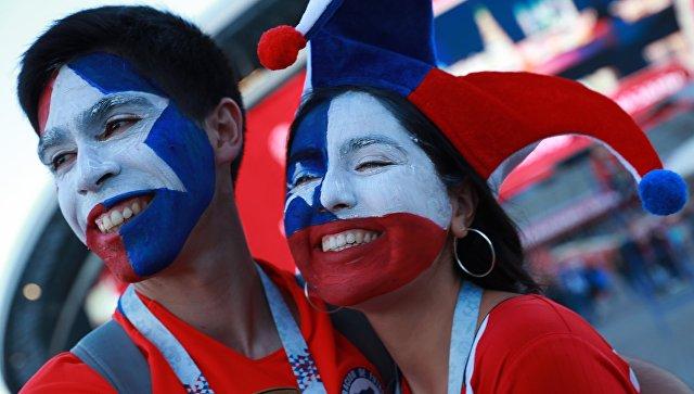 Болельщики сборной Чили перед началом матча Кубка конфедераций-2017. Архивное фото
