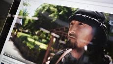 Кадр из видеоролика с изображением Экс-командира ОМОН МВД Таджикистана Гулмурода Халимова