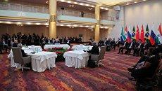 Владимир Путин принимает участие во встрече лидеров стран БРИКС в преддверии саммита Группы двадцати G20 в Гамбурге. 7 июля 2017