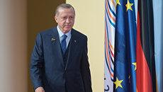 Президент Турции Реджеп Тайип Эрдоган на  саммите G20 в Гамбурге