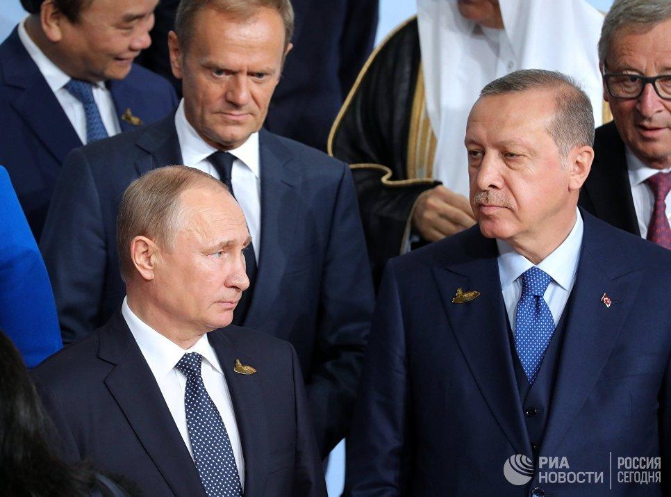 Президент РФ Владимир Путин на церемонии совместного фотографирования глав делегаций государств-участников Группы двадцати G20 в Гамбурге. 7 июля 2017