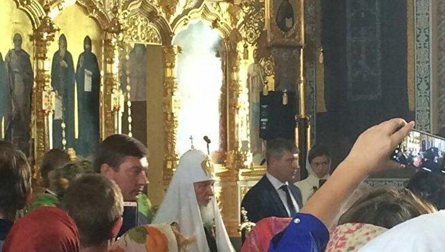Путин как и годом ранее  побывал вВалаамском монастыре