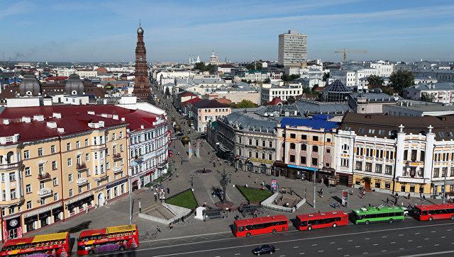 Вид на улицу Баумана в Казани. Архивное фото