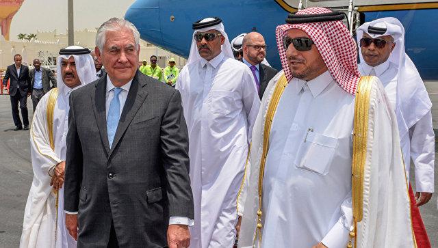 Госсекретарь США Рекс Тиллерсон в Дохе. Архивное фото