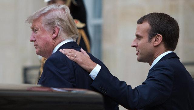 Трамп иМакрон обсудили ситуацию вокруг КНДР иИрана