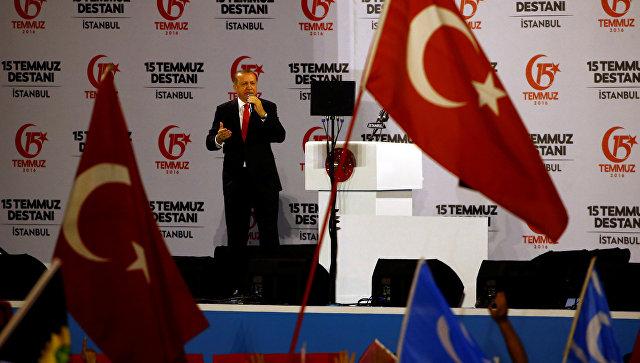 Эрдоган открыл мемориал погибшим при попытке госпереворота вАнкаре
