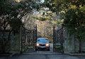 Въезд в жилой комплекс в районе Глен-Коув штат Нью-Йорк, являющийся дипсобственностью РФ
