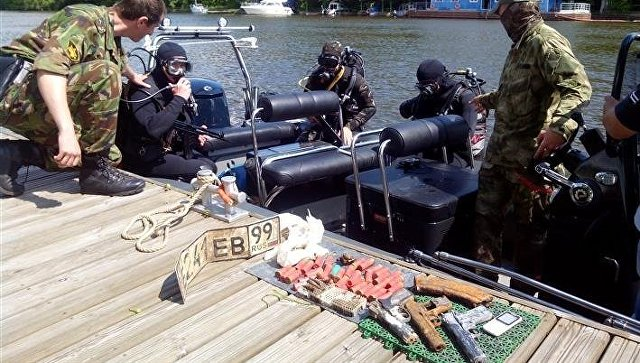 Боевой арсенал отыскали надне Москвы-реки