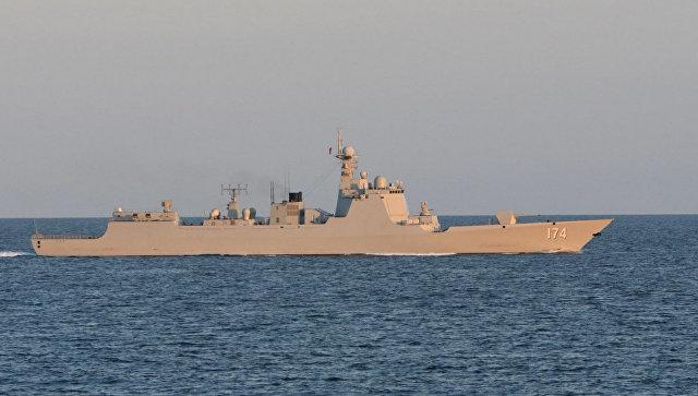 Китайское военное судно Хэфей в Северном море. Архивное фото.