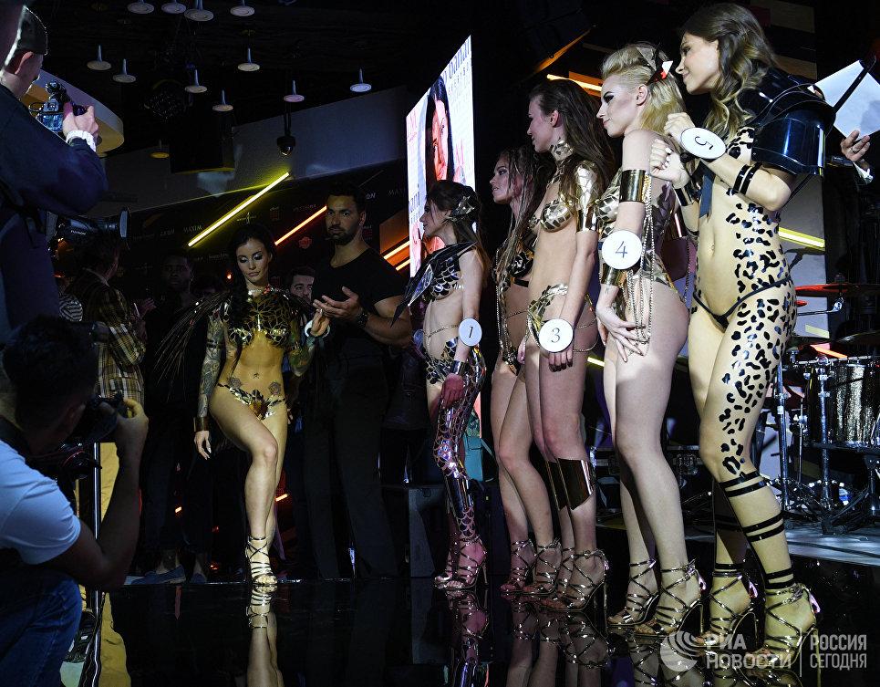 Участницы финального ежегодного всероссийского конкурса Miss Maxim 2017