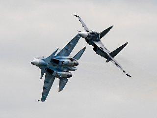 Многоцелевые истребители Су-30СМ. Архивное фото
