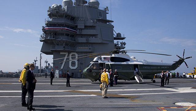 Трамп спустил наводу самый дорогой вмире авианосец