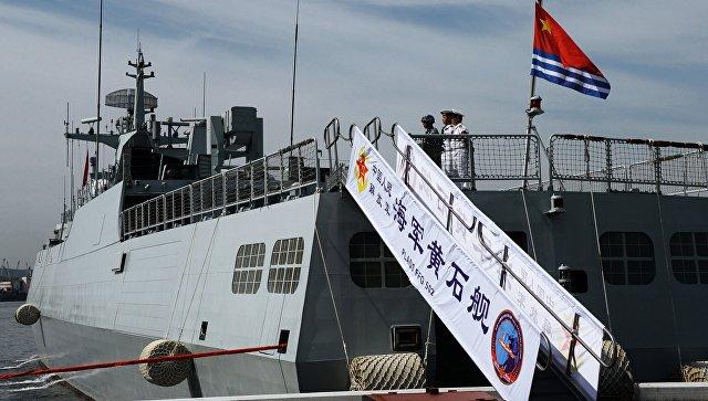 Отряд военных кораблей Китайская народная республика прибудет воВладивосток для участия в общих учениях