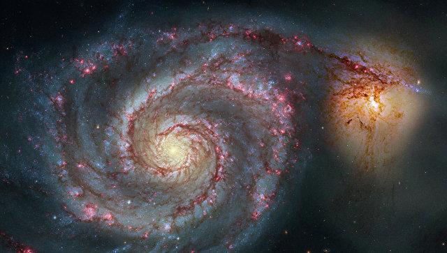 Спиральная галактика M51 в созвездии Гончие Псы