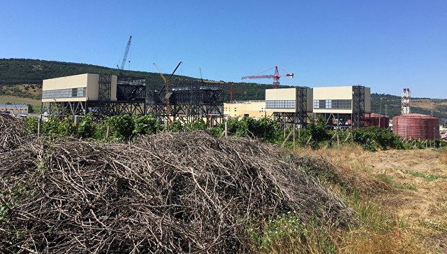 Строящаяся электростанция в Севастополе