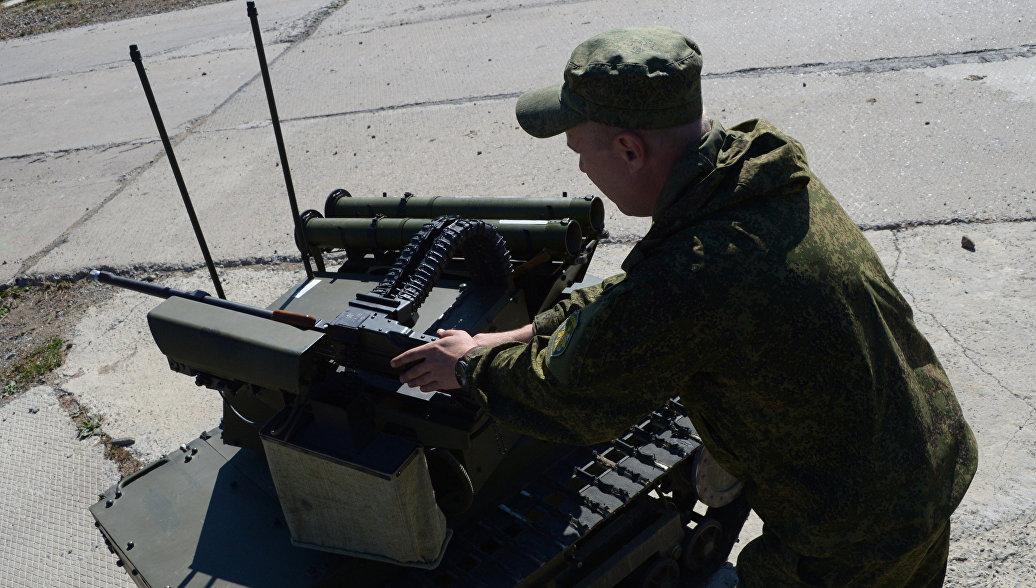 Роботизированный комплекс Минобороны РФ. Архивное фото