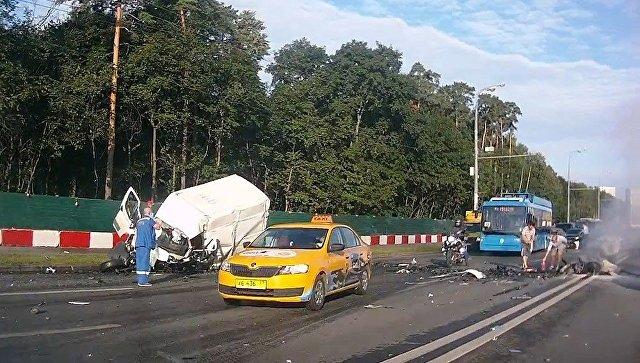 ДТП на Волоколамском шоссе в Москве