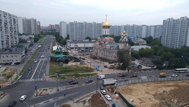 Строительство храма Андрея Рублева в Раменках