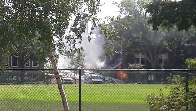 После взрыва вамериканской школе один человек умер, 2-ой пропал без вести
