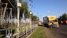 Обрушение пешеходного надземного моста на трассе М-7 Волга во Владимирской области. 6 августа 2017