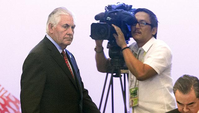 Государственный секретарь США Рекс Тиллерсон на встрече министров иностранных дел в рамках АСЕАН в Маниле. 7 августа 2017
