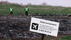 Обломки потерпевшего крушение малайзийского Boeing 777 в Донецкой области. Архивное фото