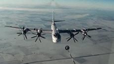 Стратегический бомбардировщик-ракетоносец Ту-95МС ВКС России. Архивное фото