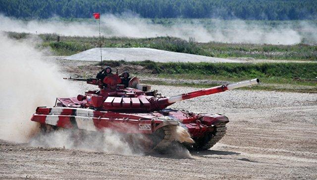 Жители России выиграли финал танкового биатлона вАлабино