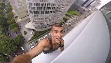 Русский Человек-паук забрался на крышу небоскреба в Мексике