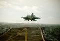 """Истребитель СУ-27К взлетает с палубы авианосца """"Адмирал Кузнецов"""""""