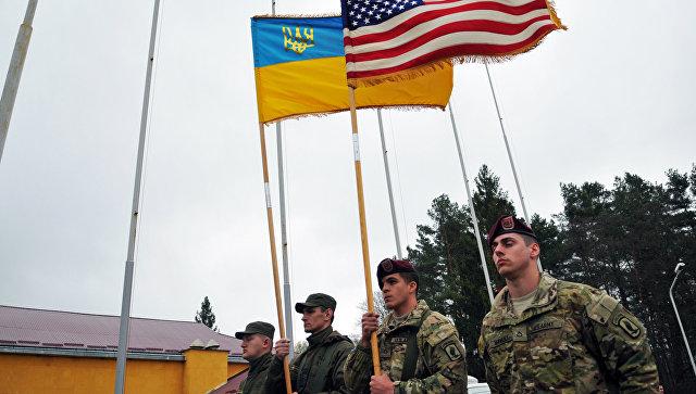 Военнослужащие армии США на территории Международного центра миротворчества и безопасности в Яворовском районе Львовской области. Архивное фото