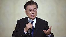 Президент Южной Кореи  Мун Чжэ Ин. Архивное фото