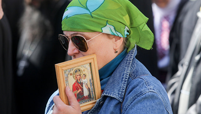 Акция прихожан Украинской православной церкви Московского патриархата в Киеве. Архивное фото